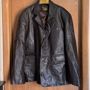 Other - Brown men's leather blazer